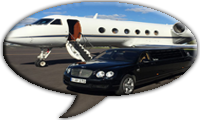 Airport transfers in a limousine in Madrid